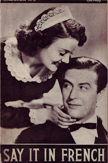 Cover of Cinegram 60, Say It in French (1938) starring Ray Milland and Olympe Bradna